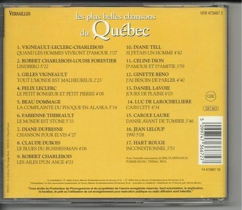 Les plus belles chansons du Québec [Import anglais]