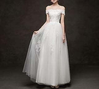 la Robe de Mariée Principale de la Mariée Est L'Épaule en Dentelle de Soie Dorée Brodée Au Style Qi Simple, une Robe de Ma...