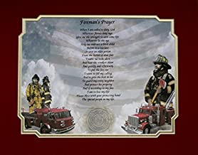 NAMES TO REMEMBER What's in a Name? Firefighter Gift Fireman's Prayer Poem Includes Dual Matte L@@K