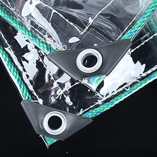 Lona Impermeable para Trabajo Pesado - Lámina De Lona Transparente Universal - Cubierta De Dosel De Plantas De PVC con Cuerda, Lona Protectora De Lona