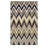 Superior 8mm Pile Height with Jute Backing, Designer Inspired Ikat Chevron Pattern, Fashionable and Affordable Woven Rugs, 8' x 10' Rug, Brown