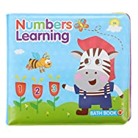 jojofuny ベビーバスブック幼児ソフト防水本ベビー学習バスタイムおもちゃフローティングベビーバスブック早期教育図書赤ちゃん幼児色2