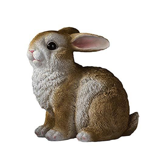 YANFANG Figura Pascua Mini Realista Estatuilla Conejito Granja ColeccióN 3D Juego DecoracióN Pastel,Los NiñOs Lindo Conejo Modelo Animal MuñEca Serie Educativos