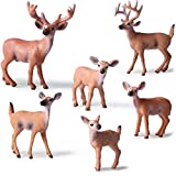 Kolobok – Safari Animals Action Figures – Wild Deers – Zoo Animals Educational Toys – 6 pcs Playset