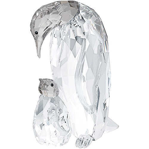 Price comparison product image Swarovski Penguin Mother with Baby Figurine