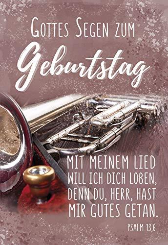 Kollektion Reuter Glückwunschkarte zum Geburtstag; mit Segenswunsch und Bibelvers; mit Briefumschlag, 40-0553