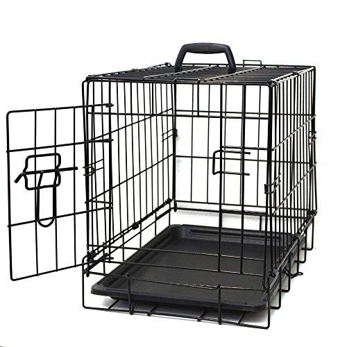 Paws & Pals Dog Crate Double-Door Folding Metal
