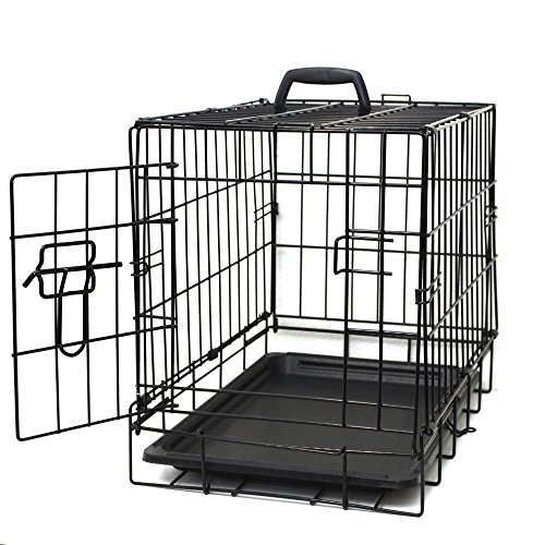 "Dog Crates for Small Dogs - Dog Crate 20"" Pet Cage Single-Door Best for Puppy & Kitten Pets - Wire Metal Kennel Cages with Divider Panel & Tray - In-door Foldable & Portable for Animal Out-Door Travel"