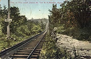 View Up From Lower Station Mt. Tom R. R. Holyoke Railroad Scenic Original Vintage Postcard