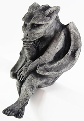 Sitting Gargoyle Concrete Halloween Statue Cement Igor French Sculpture European Cast Stone Figure All Weather Statuary Garden Statue Art