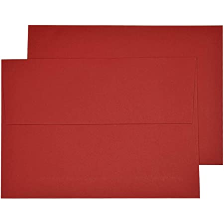 Limited Papers™ Red A7 Envelopes 5 1//4 x 7 1//4-100 Envelopes.