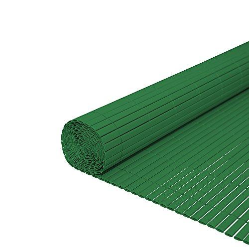 Hengda® Frangivista Canniccio PVC Paravento privacy Frangivento Recinzione giardino per giardino, balcone e terrazza(120X500cm) Verde