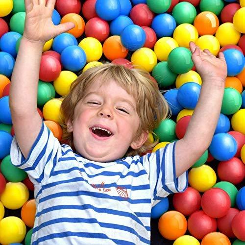 Pelotas para niños, Piscina de bolas multicolores, 5 colores, diámetro aprox. 5,5 cm (100 bolas)