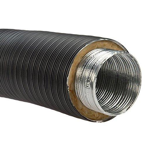 Aluflexrohr, isoliert, d 125 mm, hitzebeständig bis 200 °C Schwarz
