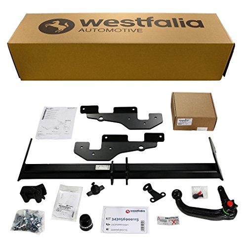 Abnehmbare Westfalia Anhängerkupplung für CX5 (BJ ab 04/2012) im Set mit 13-poligem fahrzeugspezifischen Westfalia Elektrosatz