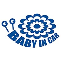 imoninn BABY in car ステッカー 【パッケージ版】 No.27 デンデンムシさん (青色)