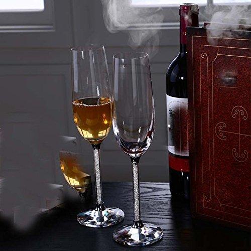 JARONG Tasse À Vin Rouge Champagne Mariage Champagne Cristal Verre Tasse