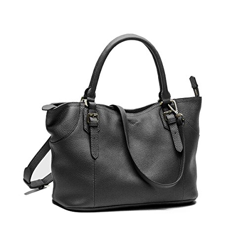 WAKEE AVE 3-Way Womens Vintage Leather Shoulder Bags Handbags Top Handle Satchels Cross Body Tote Purse Large Capacity
