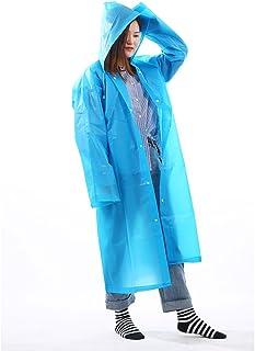 ZXQZ レインコート女性アダルトツーリストハイキングレインコート防水ロングセクションポータブルプラスシックポンチョフルボディ防水レインコートマルチカラー ポンチョ (色 : 青)