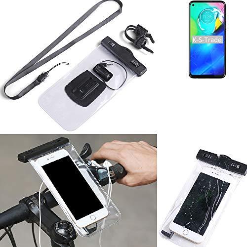 K-S-Trade® Para Motorola Moto G Power Soporte De Bicicleta para Teléfono Móvil Manillar Montaje Impermeable A Prueba De Agua Conector para Auriculares Funda para Teléfono Inteligente Ciclismo
