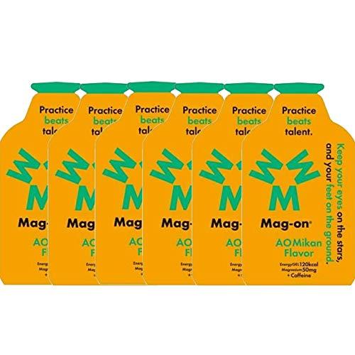 Mag-on マグオン エナジージェル 青みかん6個セット (オリジナル補給食説明書付)【sotoasoオリジナルセット トレイルランニング マラソン 自転車 トライアスロン 行動食 補給食】