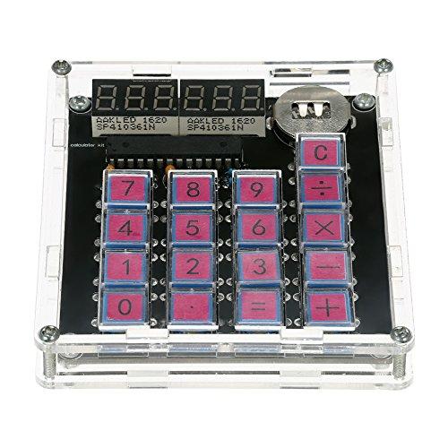 KKmoon DIY MCU Rechner Kit Digital Rohr Rechner mit Transparentem Fall