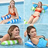 sinceroduct Pool Float Water Hammock – 2 Pack Adult Pool Floaties with 4 Pack Inflatable Floating Arm Airbags, Multi-Purpose Pool Hammock, Also Used as Saddle, Lounge Chair, Drifter.