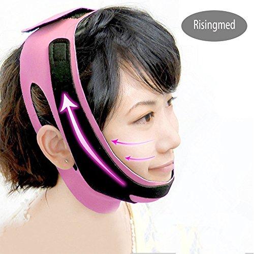 Gesicht Abnehmen Maske, Damen Anti-Falten-Maske V Gesichtslinienband und Kinn Wange Schlank anheben Schutzmaske Gürtel Band Gurt
