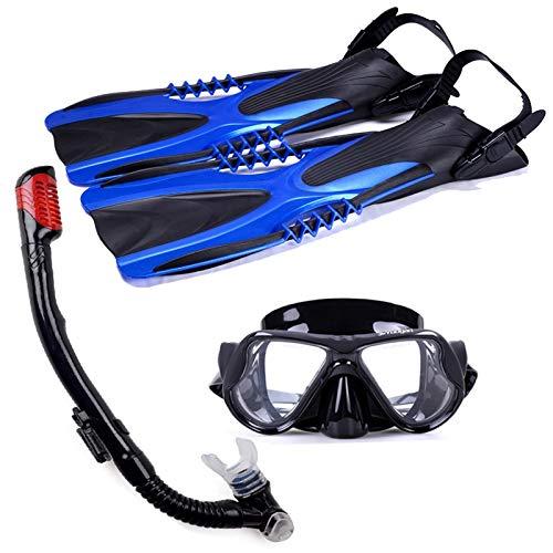Máscara De Buceo Con Esnórquel Gafas Buceo De Cara Kit De Buceo Máscara Equipo De Snorkel Aletas Equipo De Natación Máscaras Juego De Aletas De Buceo Para Para Adultos Y Niños Snorkel De Seguridad