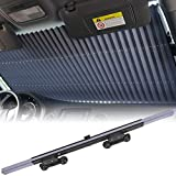 Car Windshield Sun Shade, Retractable Sun Shade, Sunshade to Keep Your Vehicle Cool and Damage Free, UV Sun and Heat Reflector, Easy to Use, 2021 New