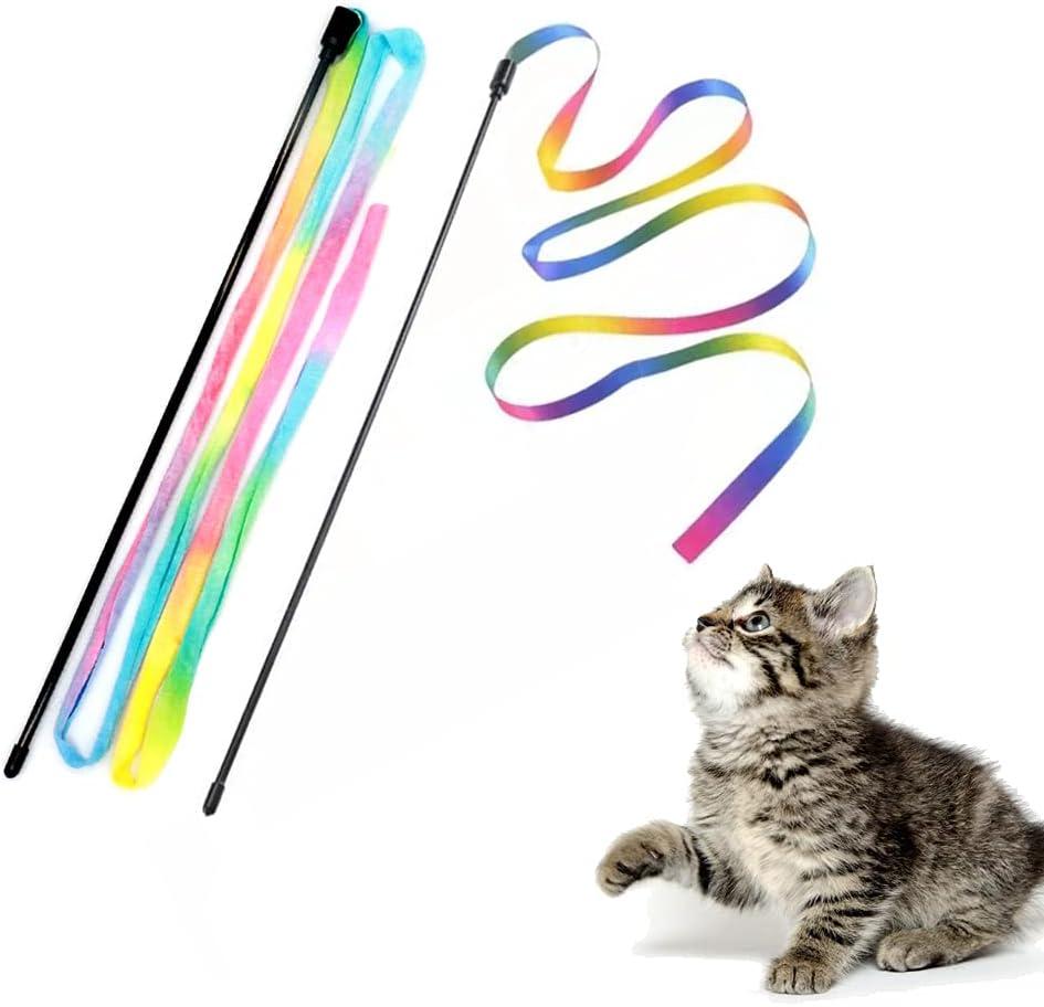 LASOCUHOO Cat Toys Interactive Washington Mall Teaser Wand Purchase String