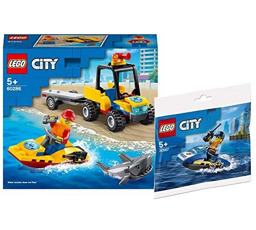 Collectix Lego 60286 - Juego de quad de playa de Lego City y policía Lego 30567 (bolsa de plástico)