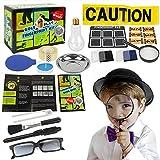 BOTINDO Spy Kit for Kids Detective Fingerprint Identification Set - Scene Investigation Science Experiment Print Identification Kit Educational Toys for Boys & Girls Age