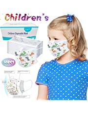 Laotie 3 Ply Non-Woven, Disposable Face Bandanas, Cloth Covering, No Washable, Breathable Face Health Suitable for Kids (Multicolor-A-50PC)