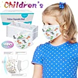 OPTIMISTIC 50PCS Disposable Mouth Protection, Cute Print Face Protect for Kids, Anti Dust Cloth Mouth...