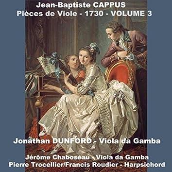 Jean-Baptiste Cappus: Pièces De Viole - 1730, Vol. 3