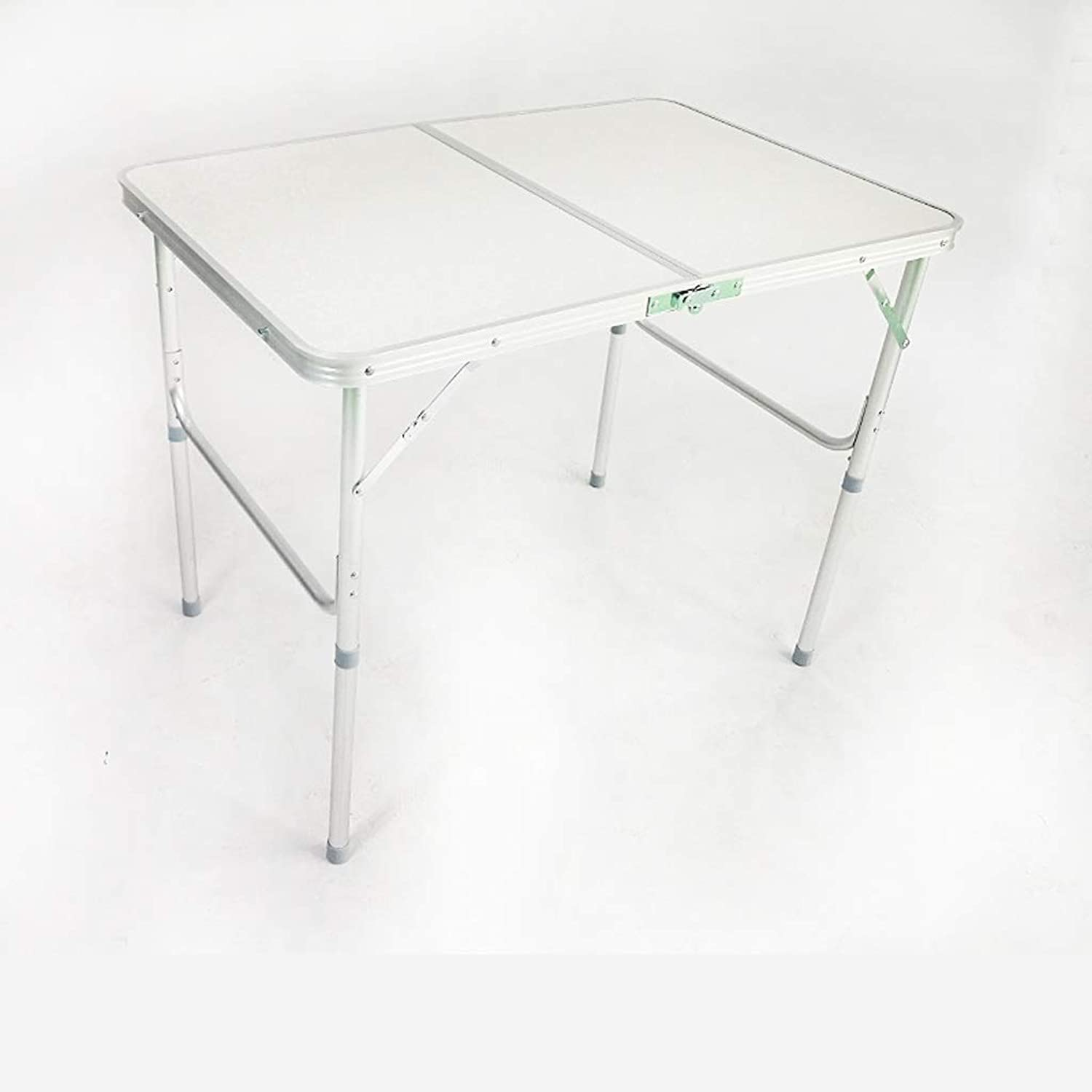 SHWSM Folding Table Outdoor Folding Table Portable Folding Table Metal Folding Table Home Picnic Table Folding Table (color   White)
