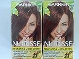 Garnier Nutrisse Haircolor - 452 Chocolate Cherry (Dark Reddish Brown) 1 Each (Pack of 2)