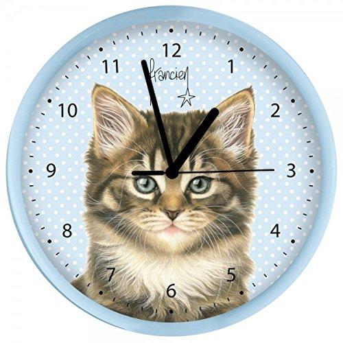 Plenty Gifts 68302 wandklok, motief: kat, kunststof, universeel, 25 cm