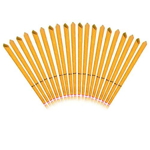 Incutex 20x sanft duftende Ohrkerzen mit verschiedenen Duft-Extrakten (Orange) Ohrenkerzen, orange