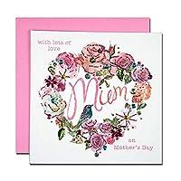 母の日カード 「スパンコール」 04 バラと小鳥
