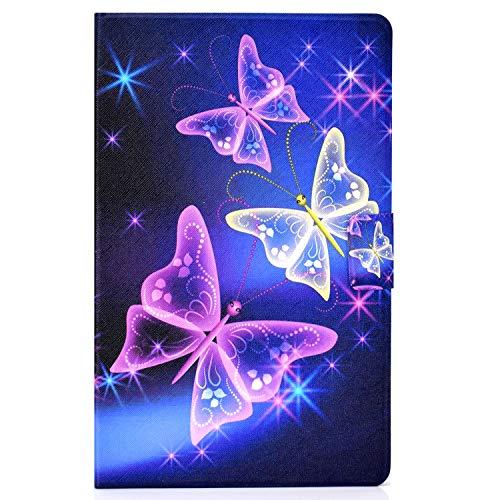 CaseFun Samsung Galaxy Tab T580 Hulle PU Leder Tasche Cover Schutzhulle Schale Etui fur Samsung Galaxy Tab A 101 Zoll T580 T585 mit Auto AufwachenSchlaf Schmetterling