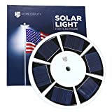 HOME DEPUTY Solar Flag Pole Light - Solar Flag Light - 111 LED - Brightest Outdoor Flagpole Light for Most In-ground Flagpoles - Dusk to Dawn Lighting Power - Pole Topper - Upgraded Lithium Battery