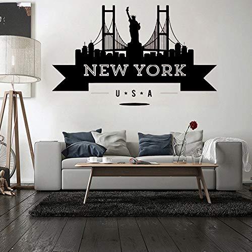voor Huis Decoratie voor Kids Kamer Slaapkamer Decor Muursticker Fotobehang Newyork wallstickers 71x43cm