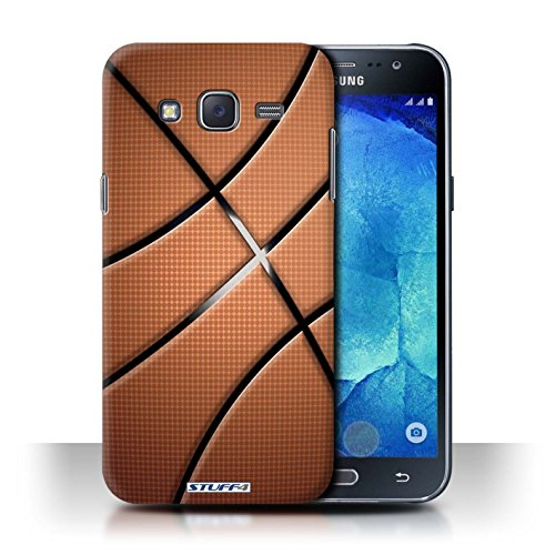 Stuff4 Hülle/Hülle für Samsung Galaxy J5/J500 / Basketball Muster/Sport Bälle/Ball Kollektion