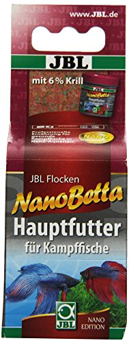 JBL Nano-Betta 23173 Alleinfutter für Kampffische, Flockenfutter 60 ml