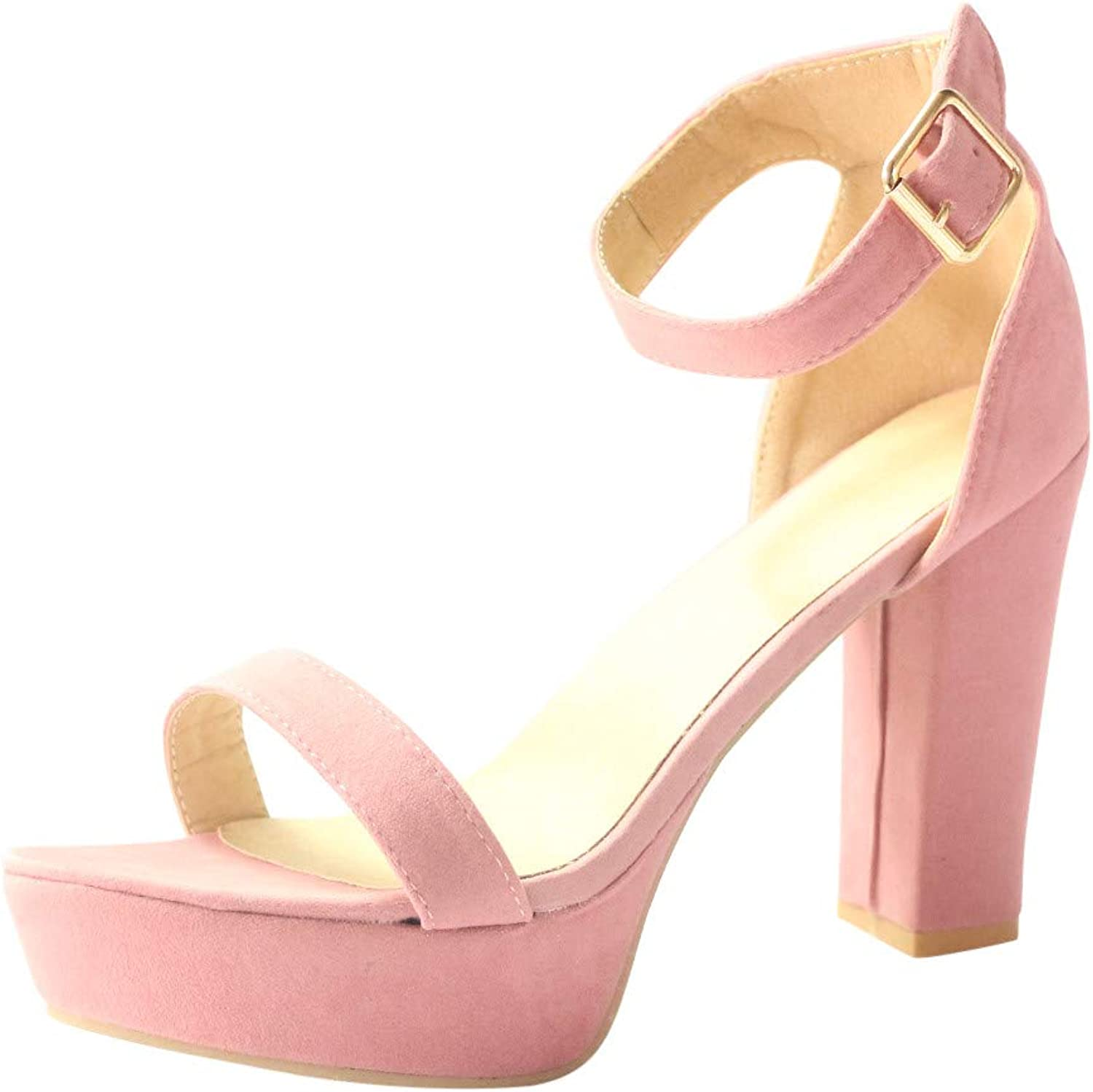 2019 New Wide Width Wedge Sandals for Women Retro Fashion Pumps Open Toe Buckle Strap High Heel shoes Roman Sandals