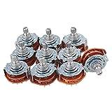 yibuy cromato 3poli 4posizione 4Way Banda Canale Interruttore Rotativo Selettore M2 10PCS