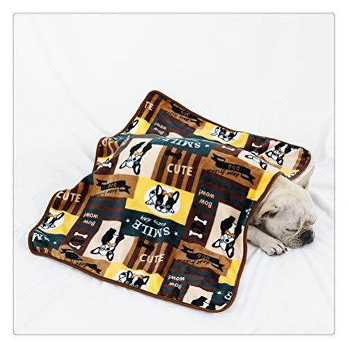 HDDFG Manta de franela súper suave para mascotas, cama gruesa, cojín para perros, toalla de ducha para cachorros y gatitos, bonita alfombra para el hogar, funda para dormir cálida, suministros para ma