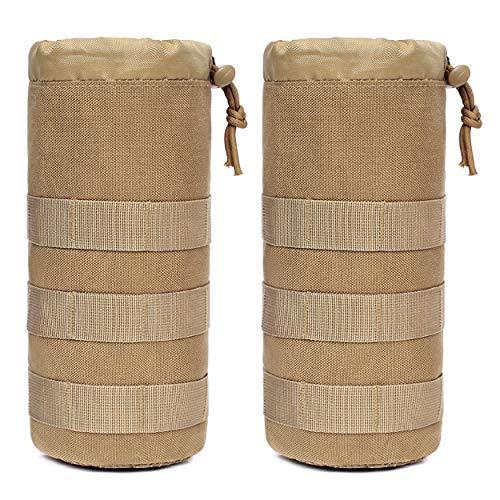 TRIWONDER Bolsa de Botella de Agua Táctica Molle Plegable Bolsa de Almacenamiento de Malla Militar para Senderismo Caza Camping
